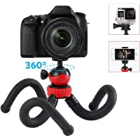 Phone Tripod, Moreslan Flexible Camera Tripod for Gopro, SLR Camera, Canon, Nikon, 360 Ball Head Mini Portable Travel Tripod Octopus Stand with Camera Cell Phone Mount Holder for iPhone/Android Phone