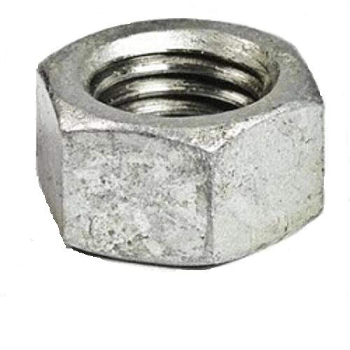 Pack of 100 Small Parts FSC38HNSG Low-Strength Steel Hex Nut Grade 2 3//8-16 Thread Size