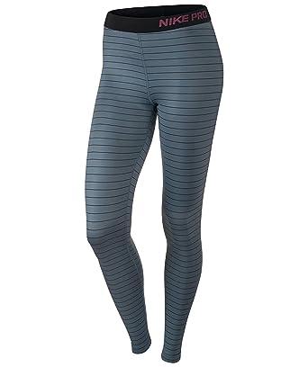 Amazon.com: Nike Pro Hyperwarm Stripe de la mujer Training ...