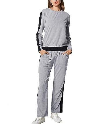 de8ee05e55d Dorimis Women Tracksuits Sports Outfits Sets 2PCS Casual Long Sleeve  Sweatshirt + Gym Trousers Pants Joggings