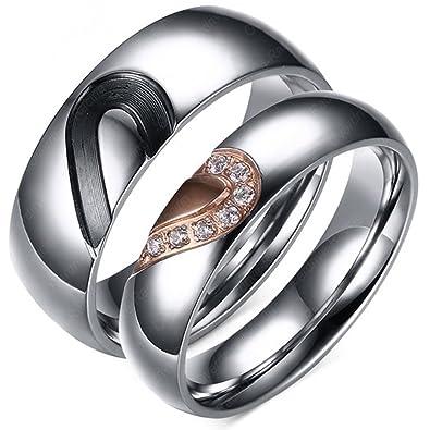 Trauringe Eheringe Edelstahl Verlobungsringe Partner Hochzeit Ringe Herz Ring