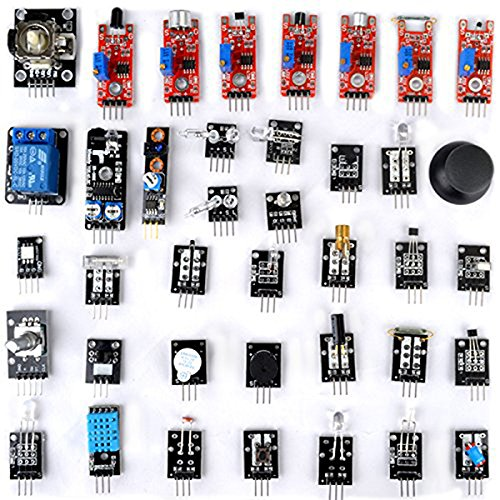 OUNONA Arduino Sensor Starter Kit 37 in 1 Arduino Compatible Learning Module for Raspberry Pi UNO R3 Mega2560 Nano