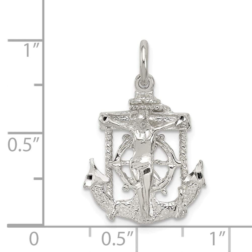 FB Jewels Solid 925 Sterling Silver Mariner Cro925 Sterling Silver Pendant