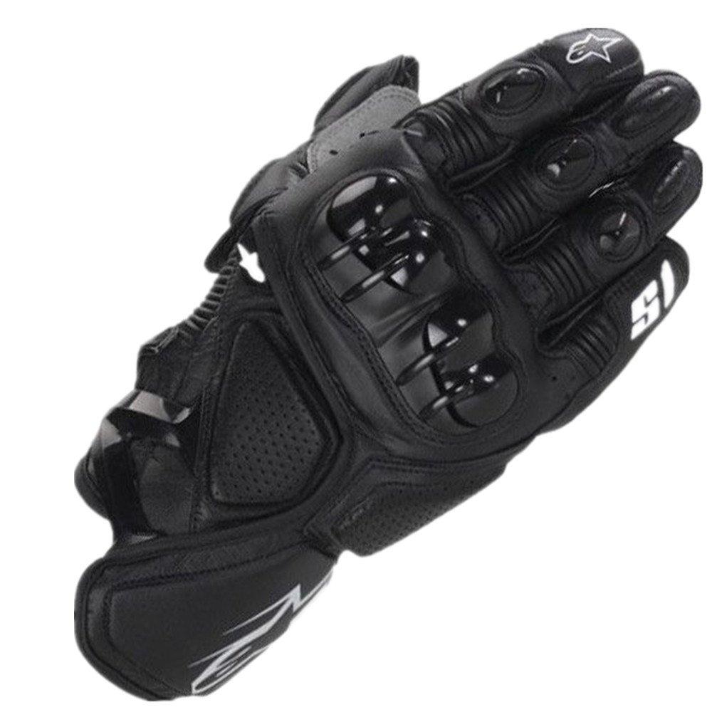 QARYYQ Wasserdichte Outdoor-Sport-Fahrradhandschuhe Motorradhandschuhe, Schwarz Handschuh (größe   L)