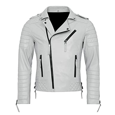 Men's Quilted Kay Michaels Biker Leather Jacket - TOP SELLER at ... : white quilted leather jacket - Adamdwight.com