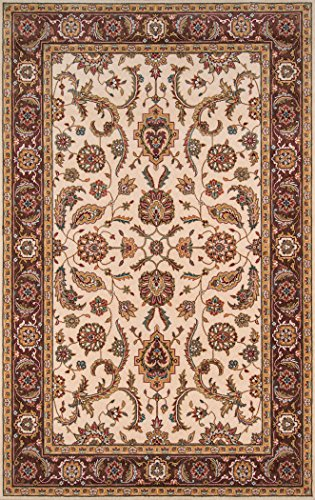 Momeni Rugs PERGAPG-07COO5080 Persian Garden Collection, 100% New Zealand Wool Traditional Area Rug, 5' x 8', Cocoa