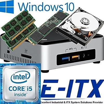 Intel NUC6I5SYH 6th Gen (Skylake) Core i5 System (BOXNUC6I5SYH), 32GB Dual Channel DDR4 , 240GB M.2 SSD , 2TB HDD, WiFi, Bluetooth, Window 10 Pro Installed & Configured by E-ITX