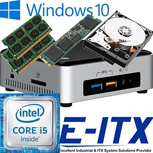 Intel NUC6I5SYH 6th Gen (Skylake) Core i5 System (BOXNUC6I5SYH), 16GB Dual Channel DDR4 , 240GB M.2 SSD , 2TB HDD, WiFi, Bluetooth, Window 10 Pro Installed & Configured by E-ITX