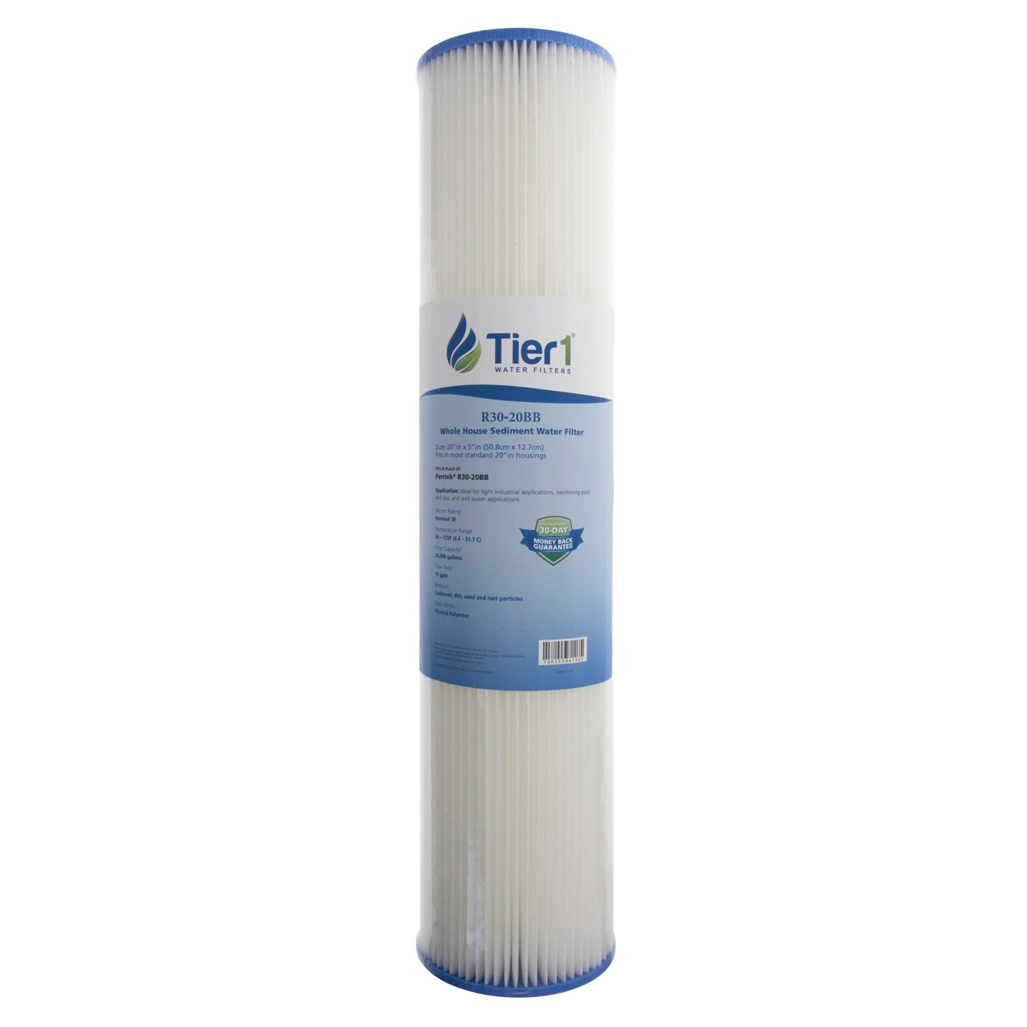 Pentek R30-20BB 30 Micron 20 x 4.5 Comparable Whole House Sediment Water Filter