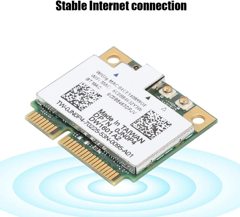 ASHATA Wireless Network Card,Wireless DW1601 Dual-Frequency 300Mbps WiFi Network Card for Laptop Desktop Computer High Gain Band WiFi Card for PC Wireless Network Adapter