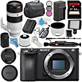 Sony Alpha a6500 Mirrorless Digital Camera (Body) ILCE6500/B + Sony FE 100-400mm f/4.5-5.6 GM OSS Lens SEL100400GM + NP-FW50 Replacement Lithium Ion Battery + Deluxe Cleaning Kit Bundle