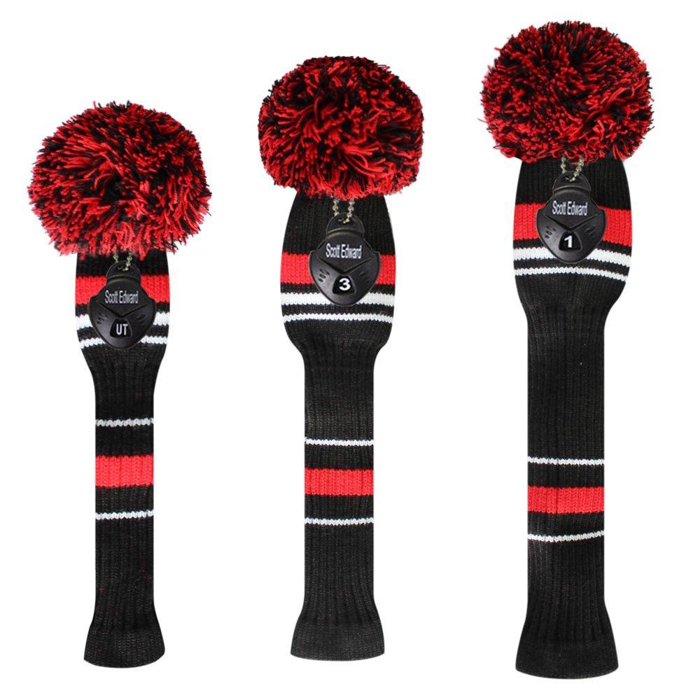 Amazon.com : Scott Edward Warning Color Style Black Red White Golf ...