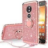 SOGA Diamond Bling Glitter Cute Phone Case with Kickstand Compatible for Motorola Moto