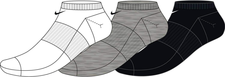 Nike U NK Everyday Max LTWT NS 3pr Chaussettes Mixte