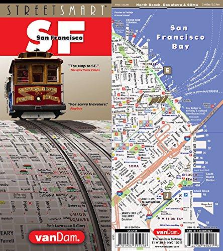 San Francisco StreetSmart map by VanDam -- Laminated city street map of San Francisco and the Bay Area with BART and MUNI - Bay Street Oakland