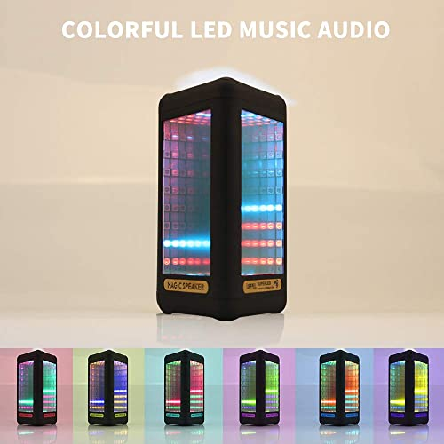 Bluetooth Speakers,Portable LED Colorful Wireless Bluetooth Speaker LED Light Visual Display Mode Powerful Sound Built-in Mic, AUX and Hands Free