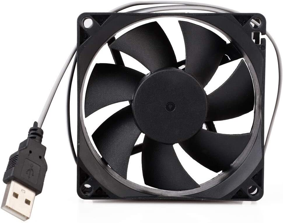 SHANDIAN 5V 80mm Computer Cooling Fan Portable USB Cooler Small PC CPU Cooling Computer Components Cooling Accessories 808010mm