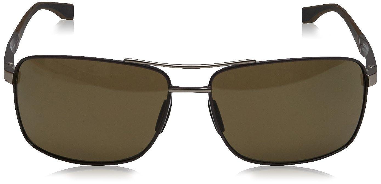 Hugo Boss Herren Sonnenbrille Boss 0697/P/S 6L Gzv, Braun (Brown Matte Ruthenium/Brown Pz Oleoph), 63
