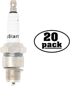 20-Pack Compatible Spark Plug for EUROSYSTEMS Power Equipment with Robin Engines - Compatible Champion L90C & NGK B6HS Spark Plugs