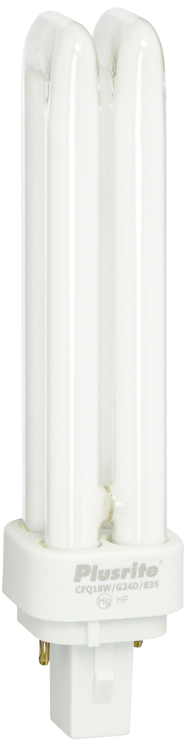 Plusrite 4022 - PL18W/2U/2P/835 Double Tube 2 Pin Base Compact Fluorescent Light Bulb