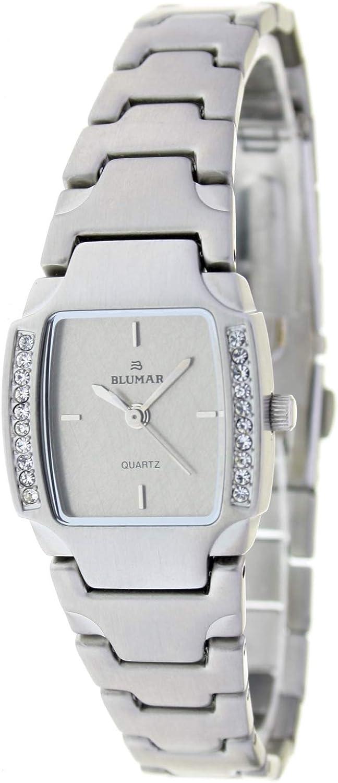 Blumar Bl-09673 Reloj Analogico para Mujer Caja De Metal Esfera Color Gris