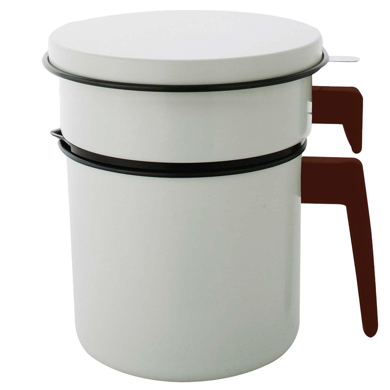 アイリスオーヤマ 活性炭オイルポット 900ml H-OP900 白