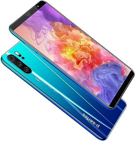 Android P33 Pantalla Completa teléfonos celulares Facial 5.8inch identificación Smartphone Tarjeta de Doble cámara de Alta definición,Azul,EUplug: Amazon.es: Hogar