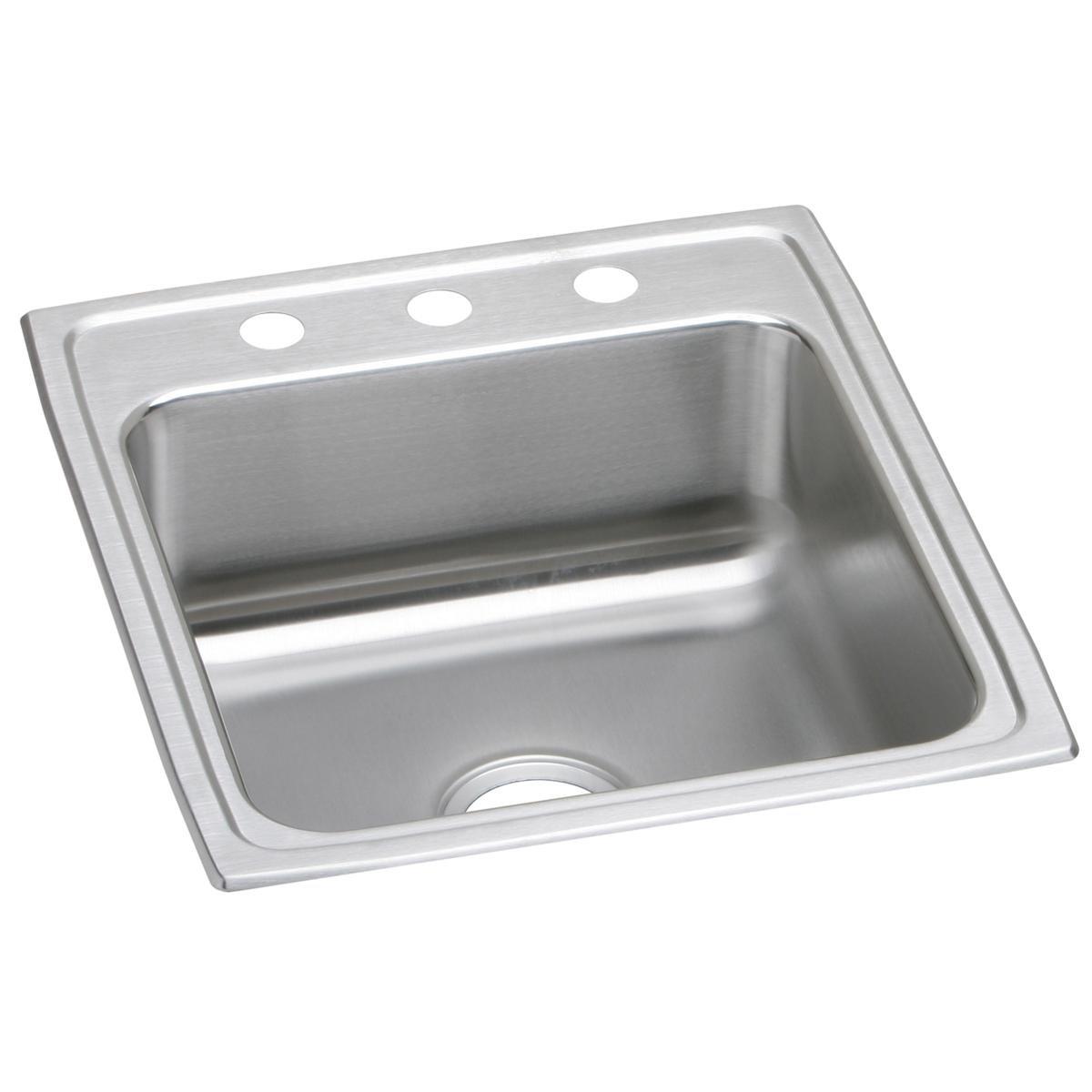 Elkay Lustertone LRAD2022603 Single Bowl Top Mount Stainless Steel ADA Sink