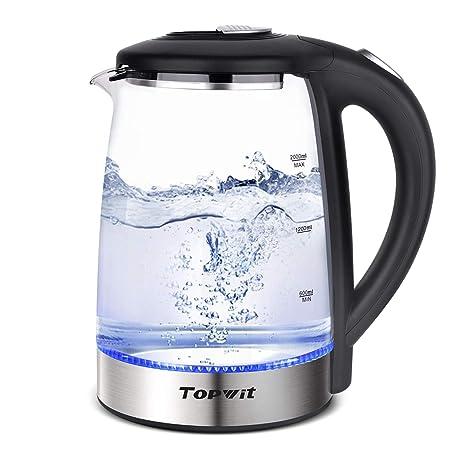 Amazon.com: Topwit Calentador de agua eléctrico de cristal ...