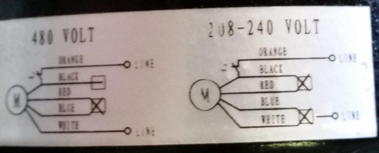 Marley Electric Motor 1/20 hp 1550 RPM 208-230/480V # 3900-0361-888