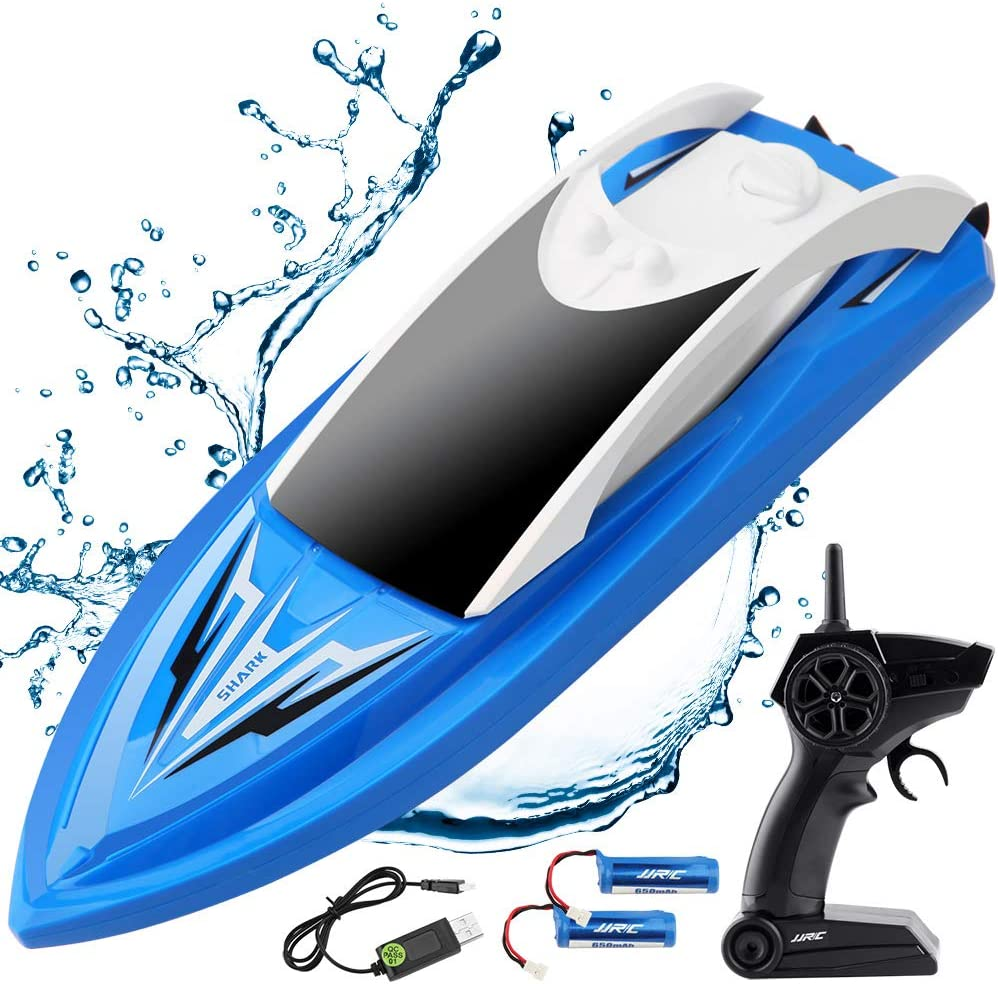 ArgoHome RC Boat Remote Control Boats for Pools and Lakes, S5B Self Righting 10km/h High Speed Boat Toys for Kids Adults Boys Girls(Blue)