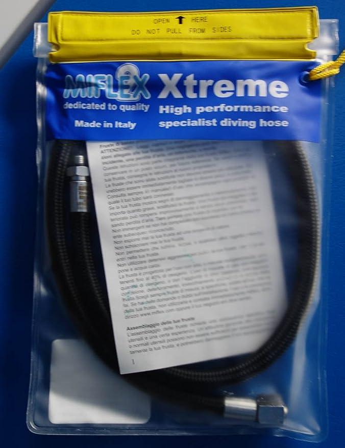 MIFLEX 36 Inch Low Pressure BC Quick Disconnect Hose Black