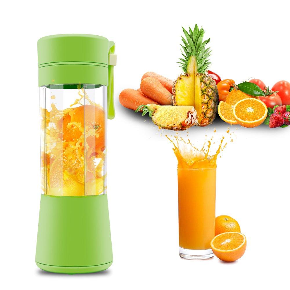 atongm Juicer Cup,Orange Lemon Citrus Fruit Mixing Machine Portable Personal Size Usb Electric Rechargeable Mixer Blender Green Water Bottle