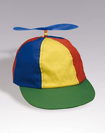 d6064e9e Image Unavailable. Image not available for. Color: ADULT PROPELLER BEANIE  HAT CLOWN COSTUME BASEBALL COPTER ...