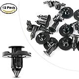 GOOACC Nylon Bumper Fastener Rivet Clips Automotive Furniture Assembly Expansion Screws Kit Auto Body Clips 8mm - 12PCS