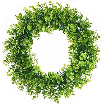 Lvydec Artificial Green Leaves Wreath - 15