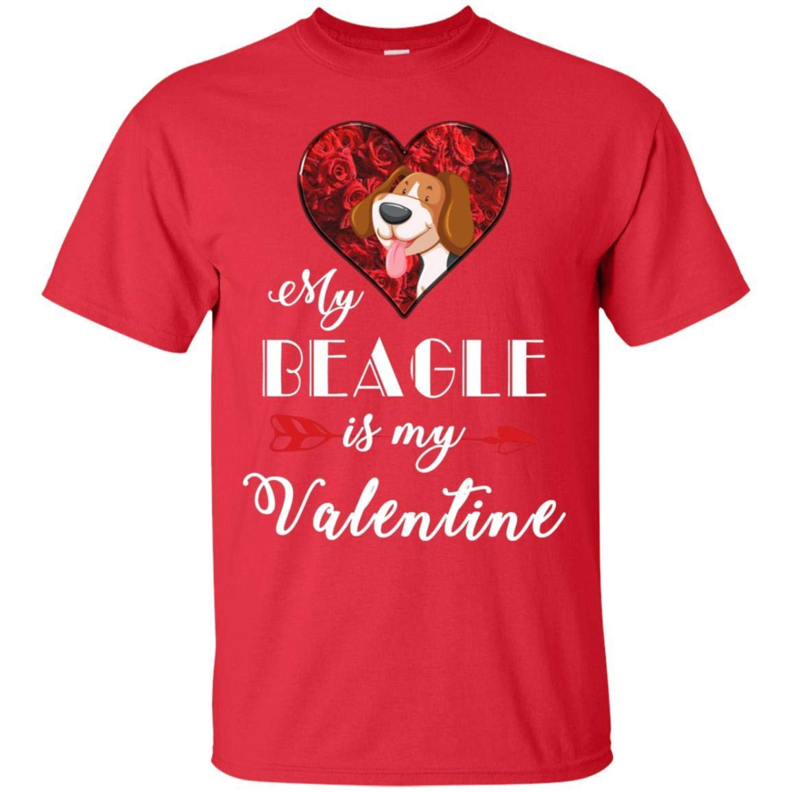 TeeAbelia My Beagle is My Valentine Dogs Lovers Shirt