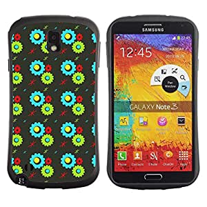 ArtSpace Premium Hybrid Back Case Cover Samsung Galaxy Note 3 III ( sprocket wheel )