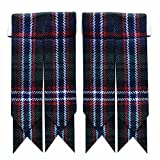 New Solid Plain Black, Royal Stewart Tartan Many More Kilt Flashes Multi Colors (Scottish of National)