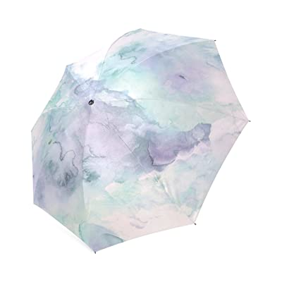 30%OFF Personalized Lavender Hand Painted Foldable Umbrella Rain Compact Travel Umbrella