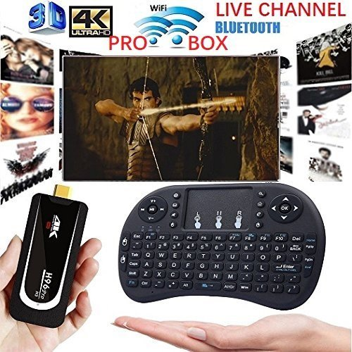 [2018 New Arrive] PRO BOX Latest USA version Android 7.1 KD 17.6 Portable Support 5G wifi TV Stick Box 2G+16G Streaming Media Player 4K /64Bit/Amlogic S905X Quad Core with mini keyboard