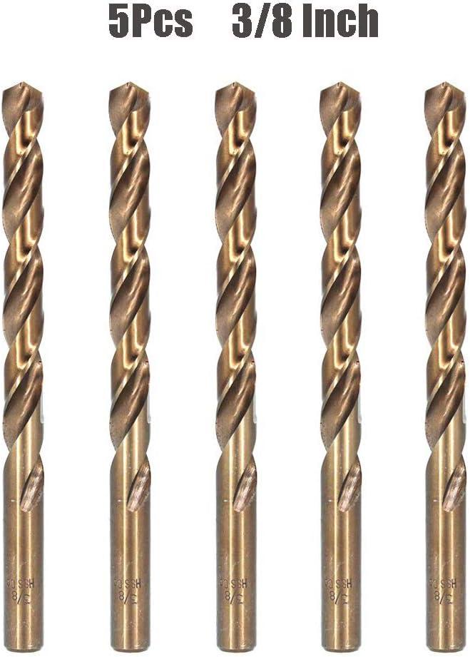 "2Pcs 11//64/"" Stainless Steel Metal Twist Drill Bits M35 HSS Cobalt Sets"