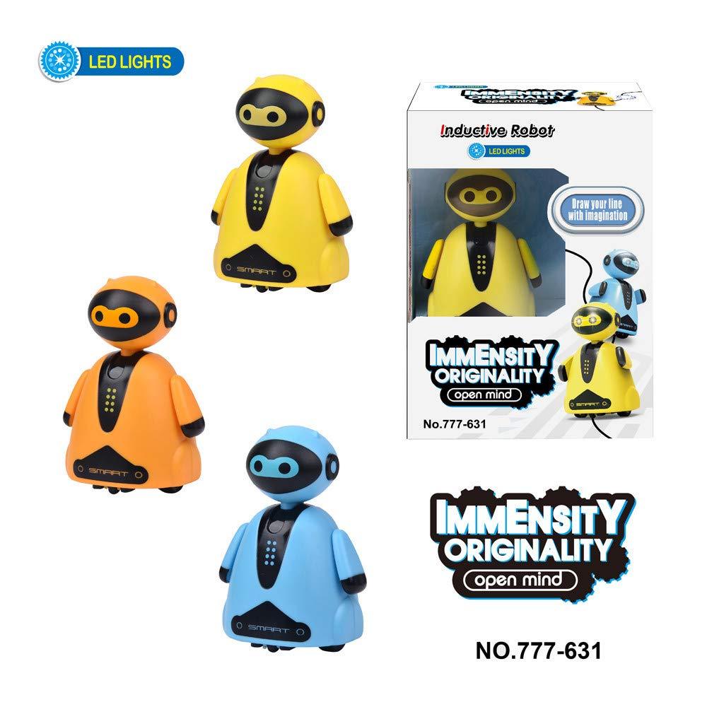 Bascar Induktive Roboter Spielzeug Blau Folgen Sie jeder gezeichneten Linie Magic Pen Spielzeug Geschenk Roboter Modell Folgt Line Neuheit Geschenke mit Magischen Stiftes f/ür Kinder