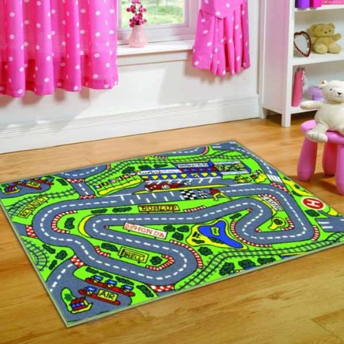 Kiddy Formula 1 Road Race Car Play Mat Washable Hardwear