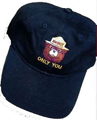 3547b723906 Image Unavailable. Image not available for. Color  Smokey The Bear  quot  Only You quot  Prevent Forest Fires Black Baseball Hat Cap