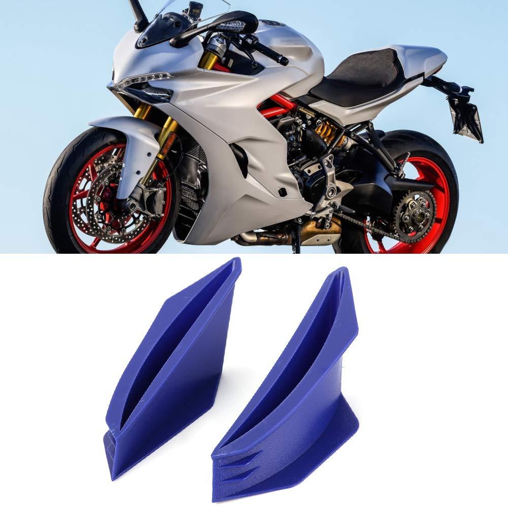 Fydun Kit ala aerodinamica per moto Winglet universale da 1 paio blu