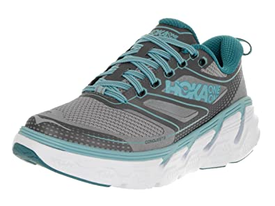 HOKA ONE ONE Women's W Conquest 3 Pavement/Gull Running Shoe 5 Women US