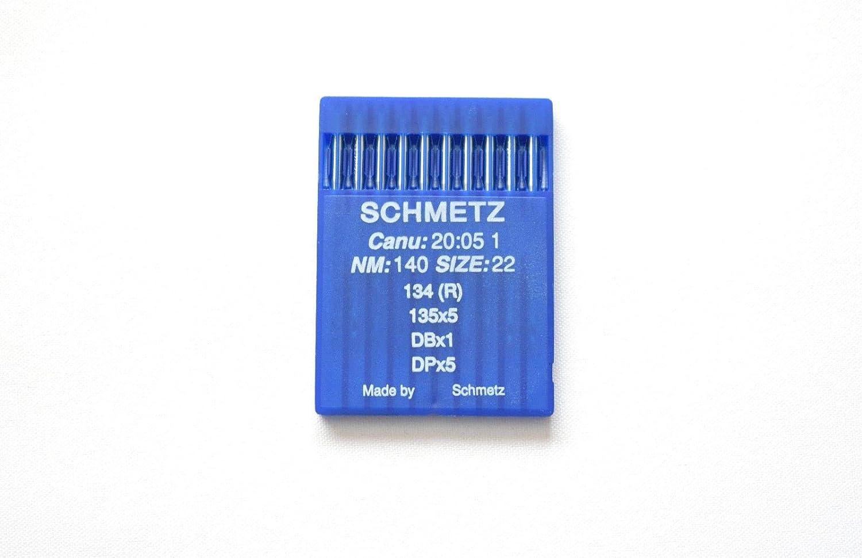 SCHMETZ - Agujas para máquina de coser industrial CANU 20:05 1, 134R, SY 1955,DPx5 22/140