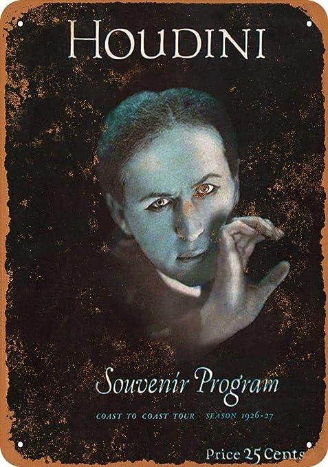 Yohoba Harry Houdini - Cartel de Metal (30,5 x 45,7 cm ...