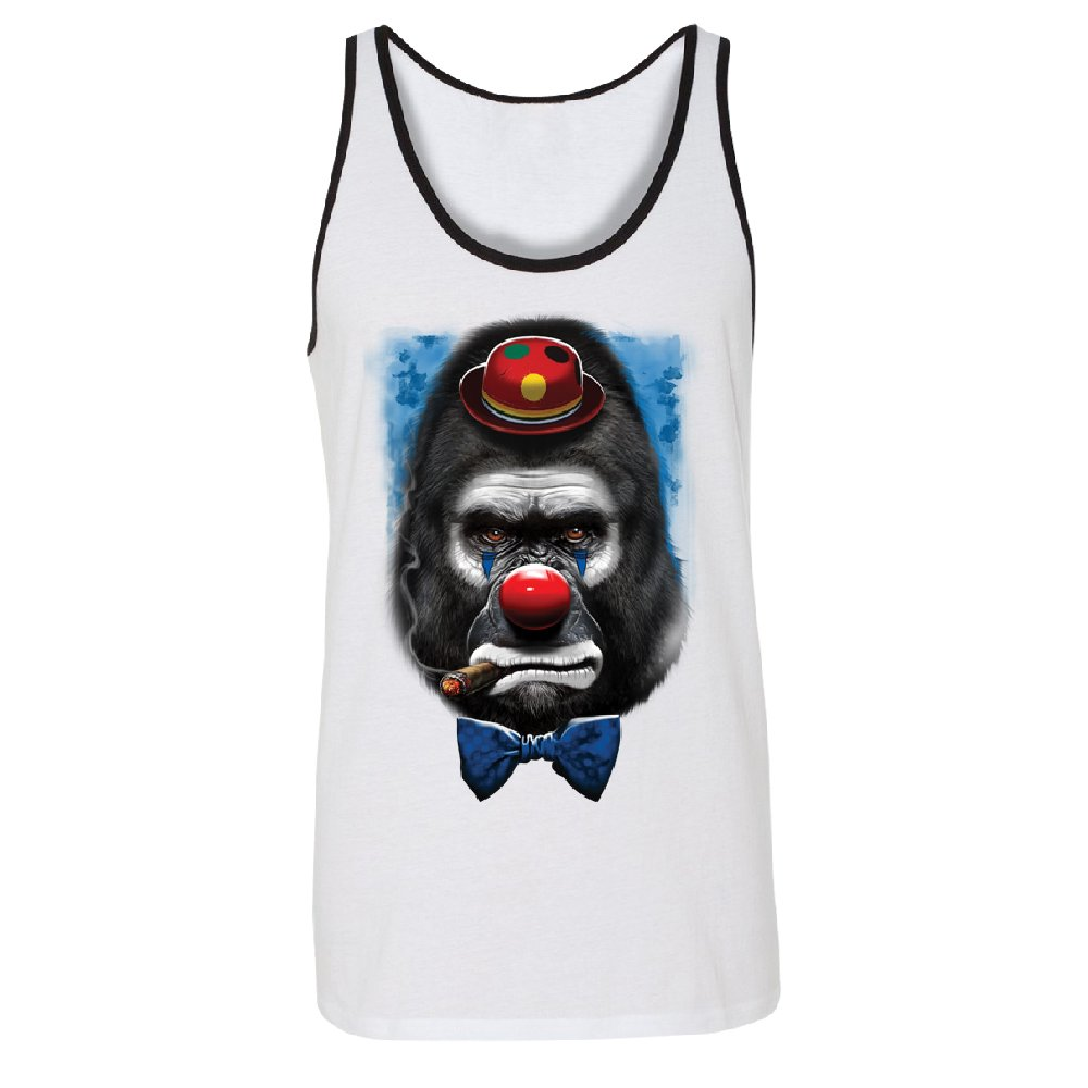 Gorilla Clown Sad Scary Mens Tank Top Halloween Shirts